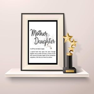 Mother, Daughter Definition Wall Decor